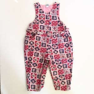 Vintage Friedknit Creations Pink Corduroy Overalls